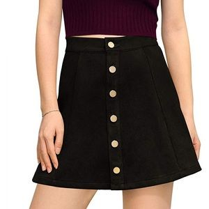 NWT Black Suede Skirt A-lime Allegra